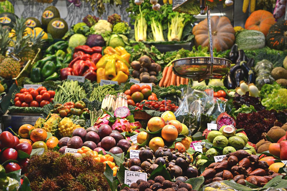 Fruits et legumes variés