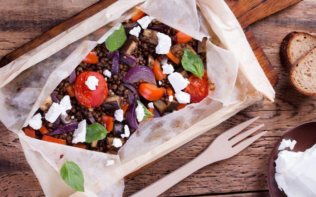 Salade de lentilles à la tomate et feta